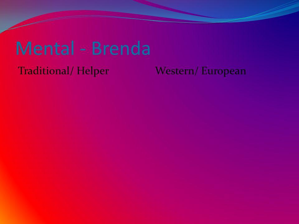 Mental - Brenda Traditional/ HelperWestern/ European