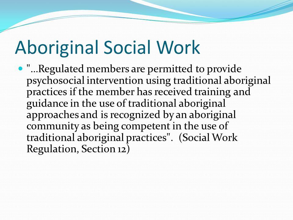 Aboriginal Social Work