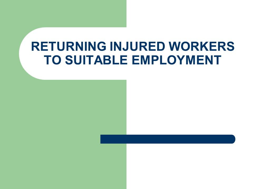 How Will This Law Affect the Injured Worker.