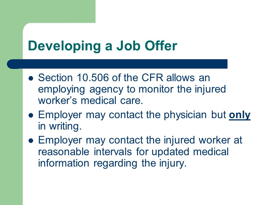 Unjustified Refusal Previously-issued Loss of Wage Earning Capacity (LWEC) based on a constructed position where the injured worker is not working.