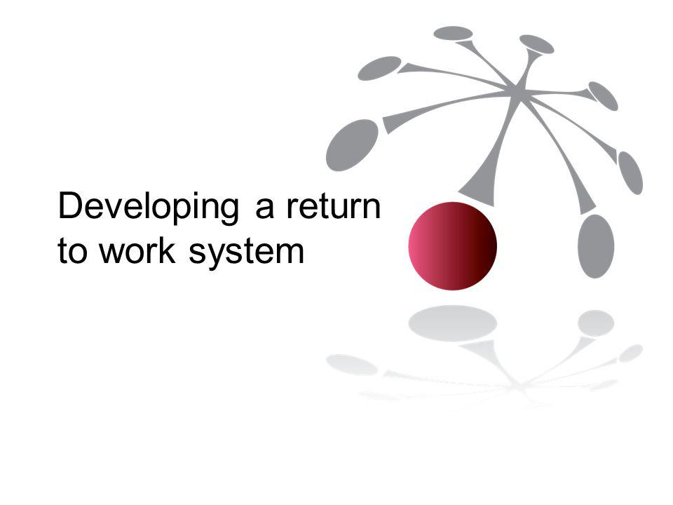 Developing a return to work system