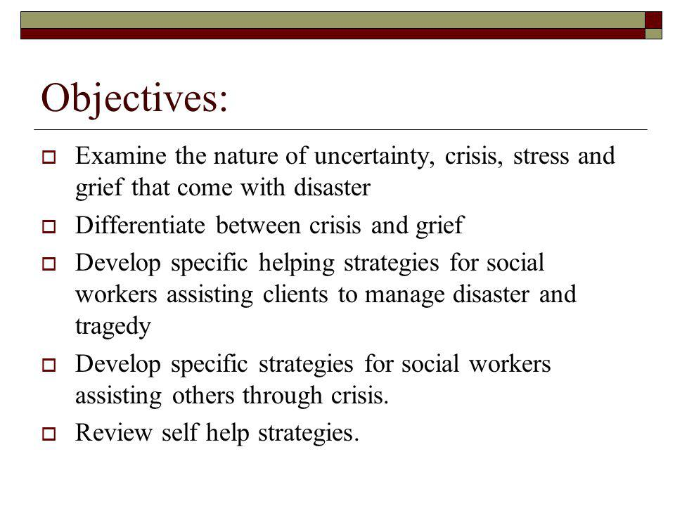 Sources: Coping with Public Tragedy ( 2002 Hospice Foundation of America) Edited by Marcia Lattanzi-Licht and Kenneth Doka The National Center for PTSD, Special Edition, Disaster Assistance (2001) Growing through Grief after Sudden Loss (1999 Hospice Foundation of America) Edited by Kenneth Doka