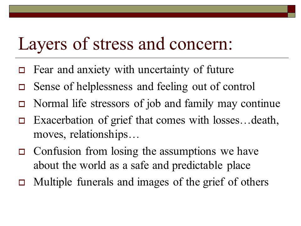 Grief follows Crisis….
