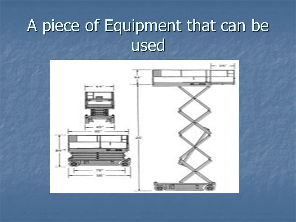 A piece of Equipment that can be used