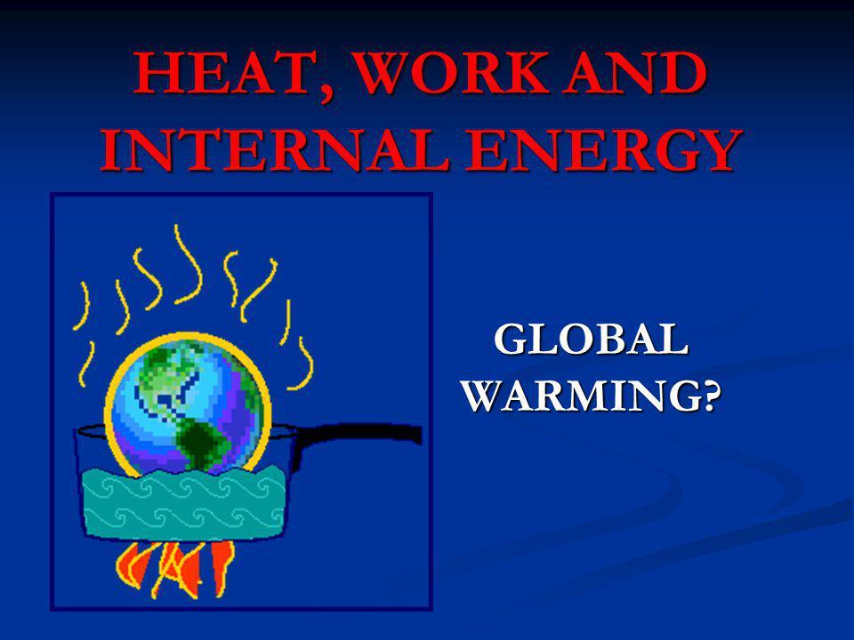 HEAT, WORK AND INTERNAL ENERGY GLOBAL WARMING?