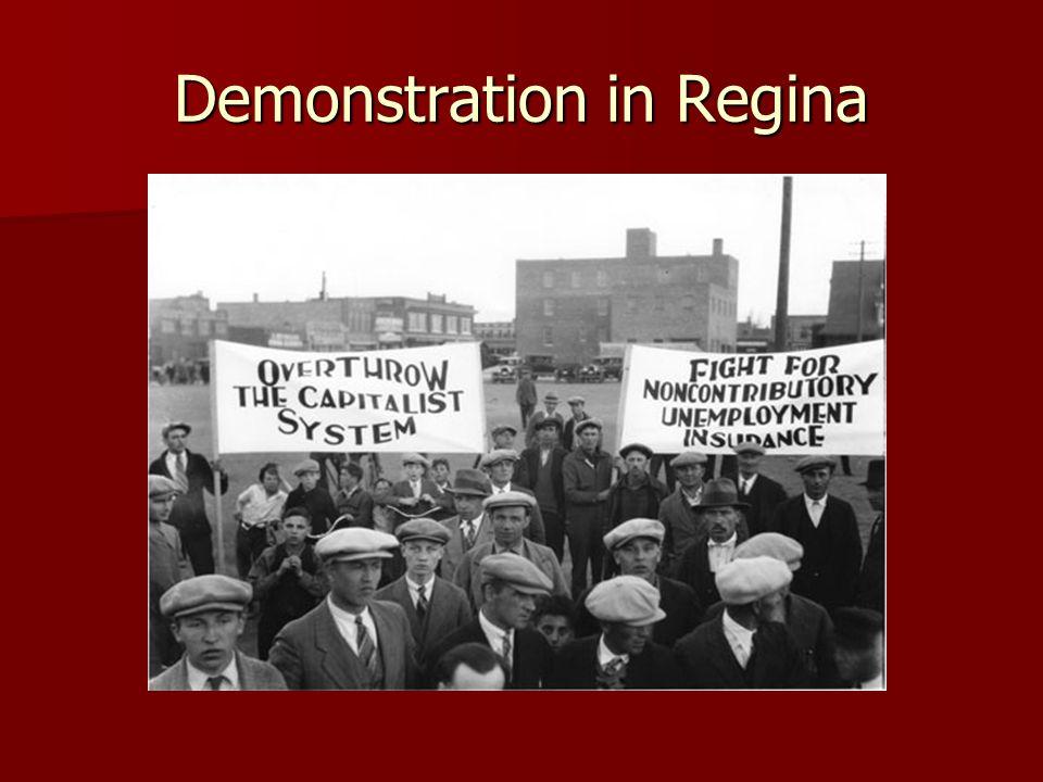 Demonstration in Regina