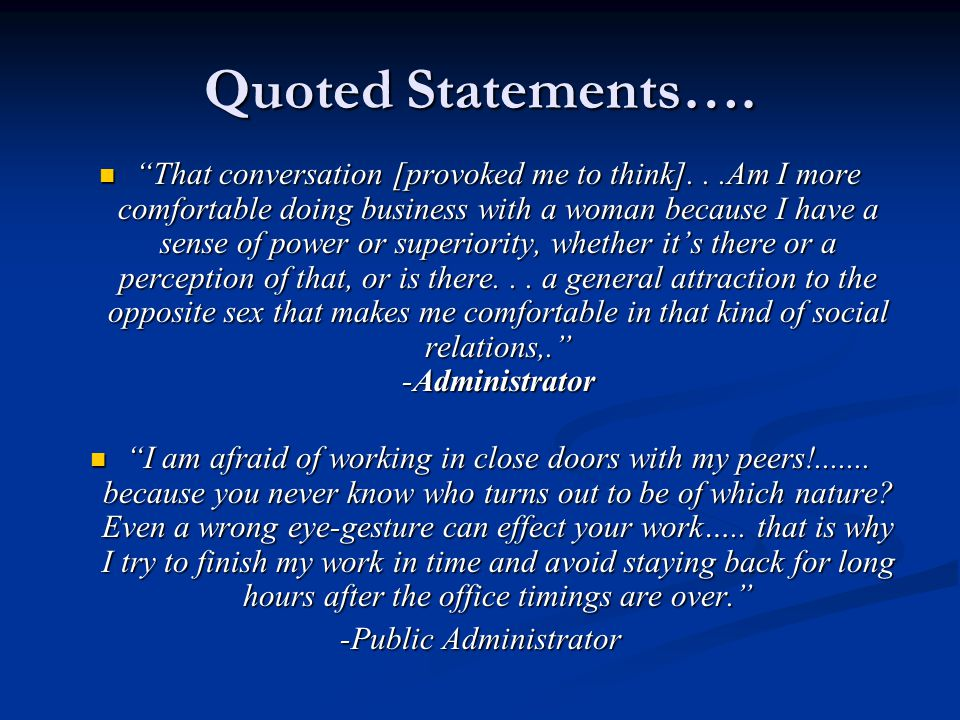 Quoted Statements….