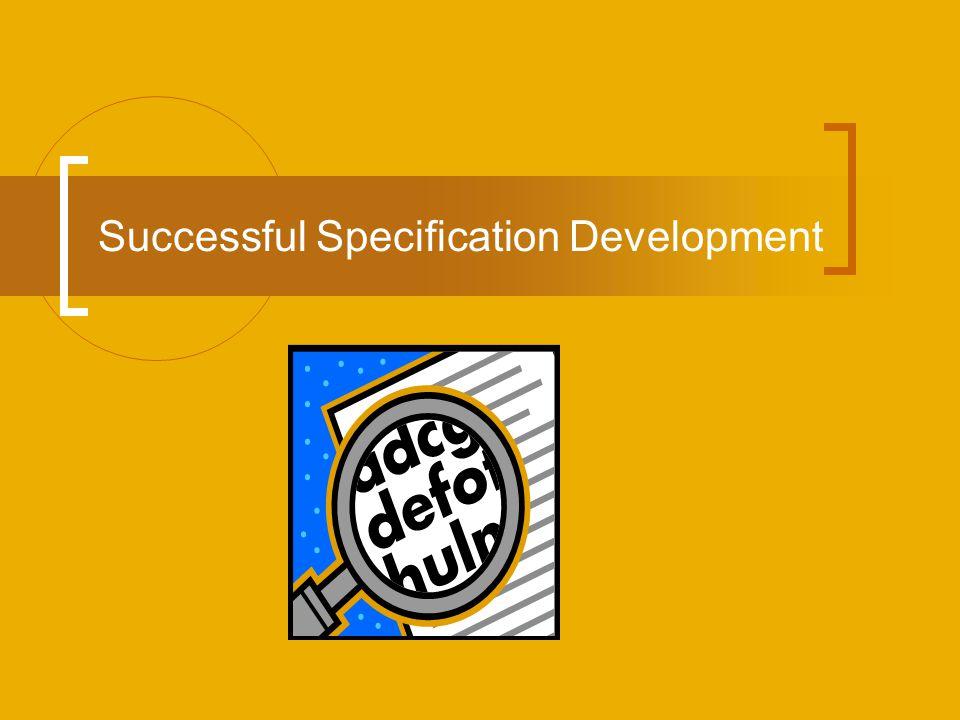 Successful Specification Development