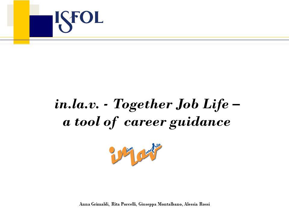 in.la.v. - Together Job Life – a tool of career guidance Anna Grimaldi, Rita Porcelli, Giuseppa Montalbano, Alessia Rossi