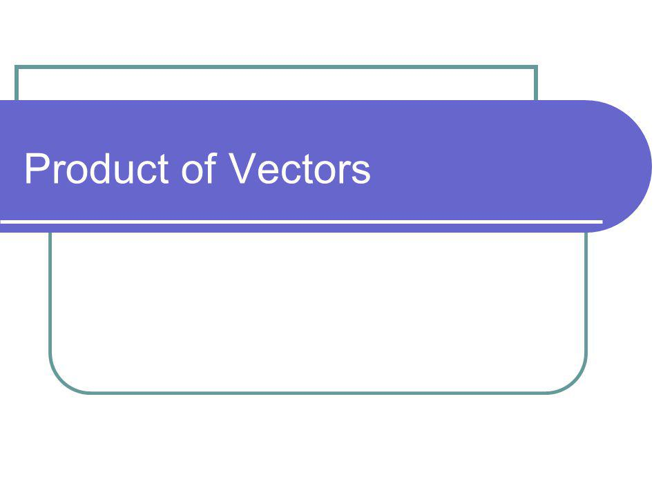 Product of Vectors