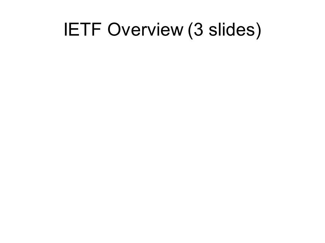 IETF Overview (3 slides)