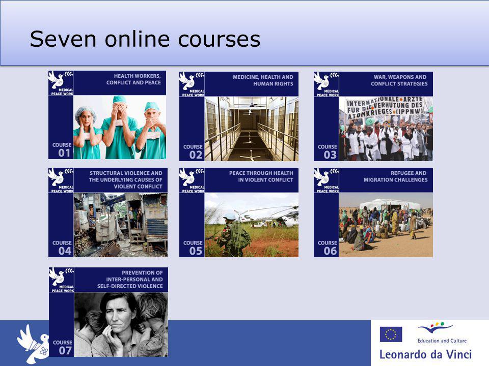 Seven online courses