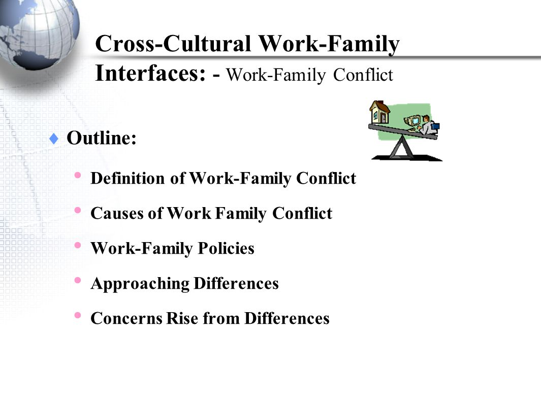 cross cultural work family interfaces work family conflict