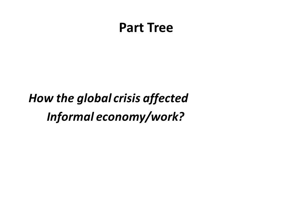 Part Tree How the global crisis affected Informal economy/work