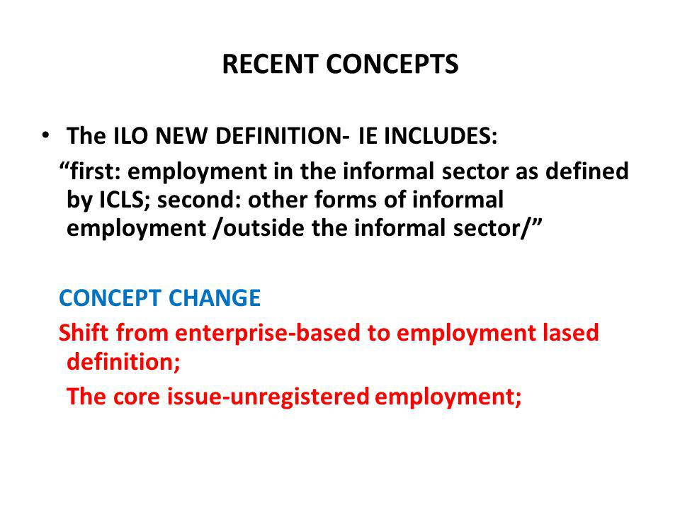What is the informal economy/work.