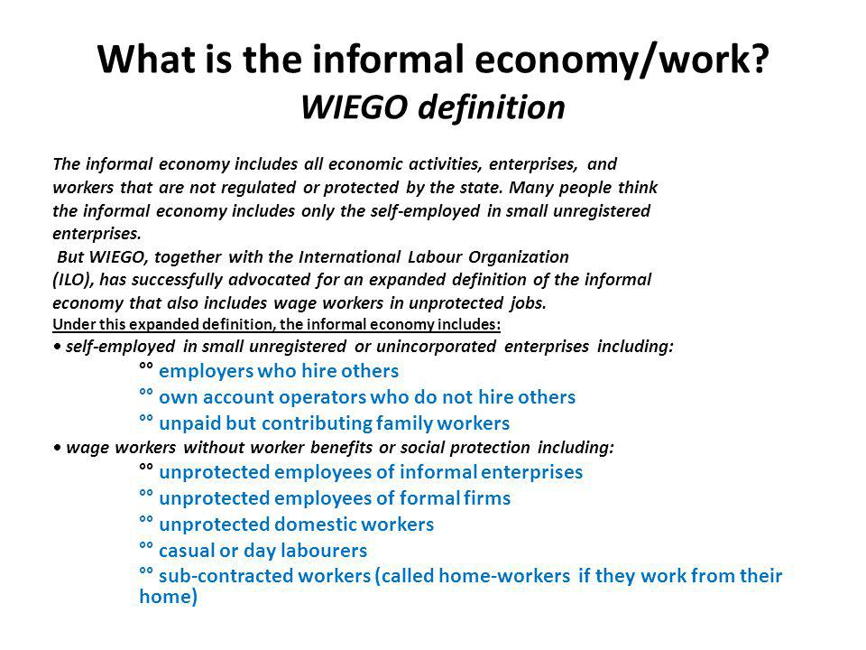What are the drivers of informality.