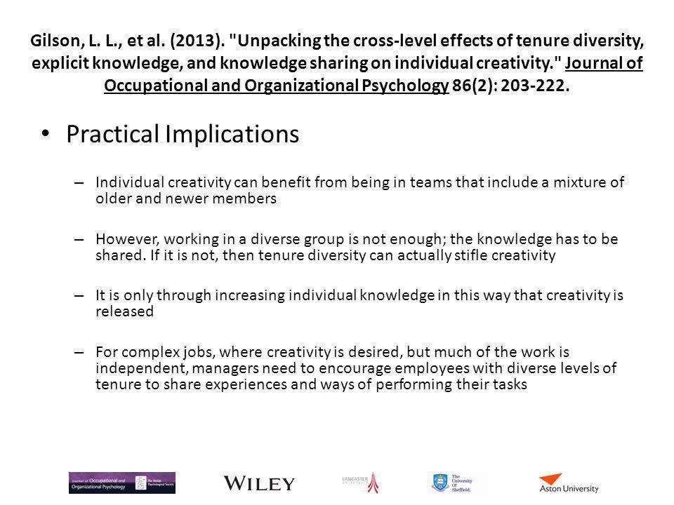 Gilson, L. L., et al. (2013).