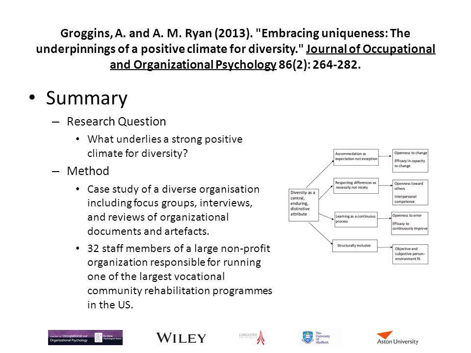 Groggins, A. and A. M. Ryan (2013).