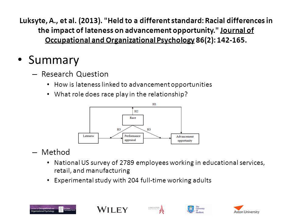 Luksyte, A., et al. (2013).