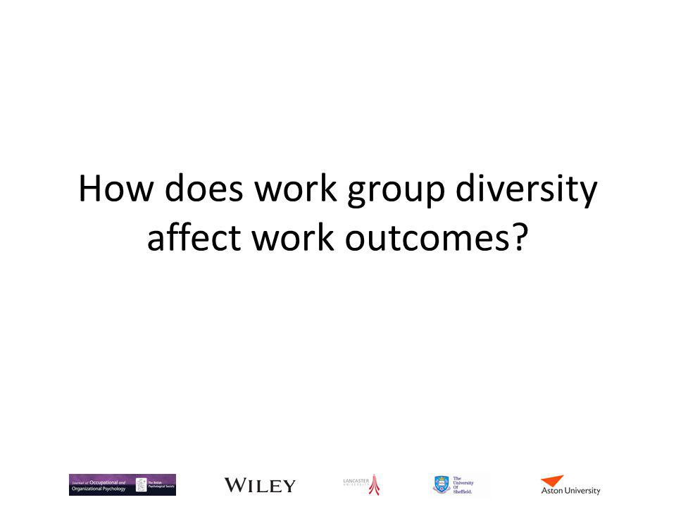 How does work group diversity affect work outcomes?