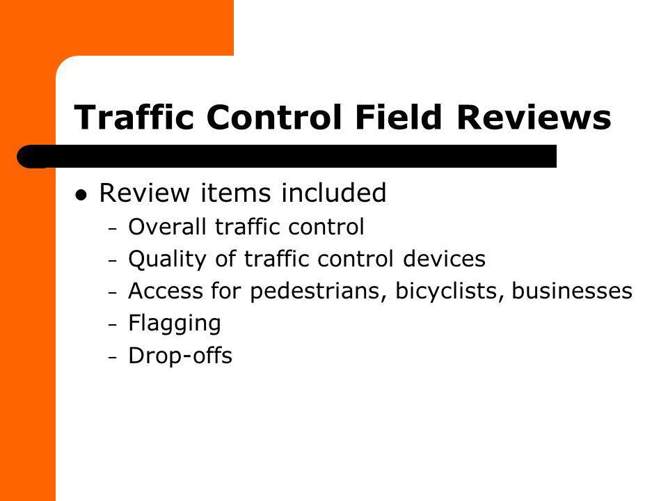 Federal Work Zone Rule – Subpart K Maintenance of temporary traffic control devices – ATSSA Quality Guidelines for Temporary Traffic Control Devices – Standard Spec 643.2.1 – CMM 1.45.9.1