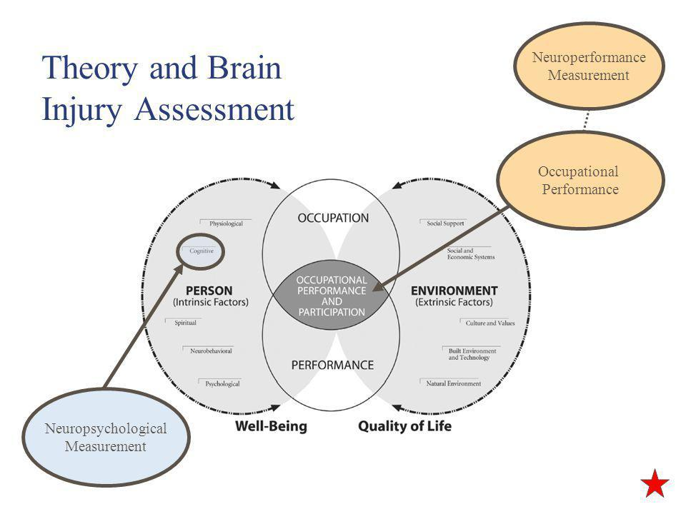 Theory and Brain Injury Assessment Occupational Performance Neuroperformance Measurement Neuropsychological Measurement