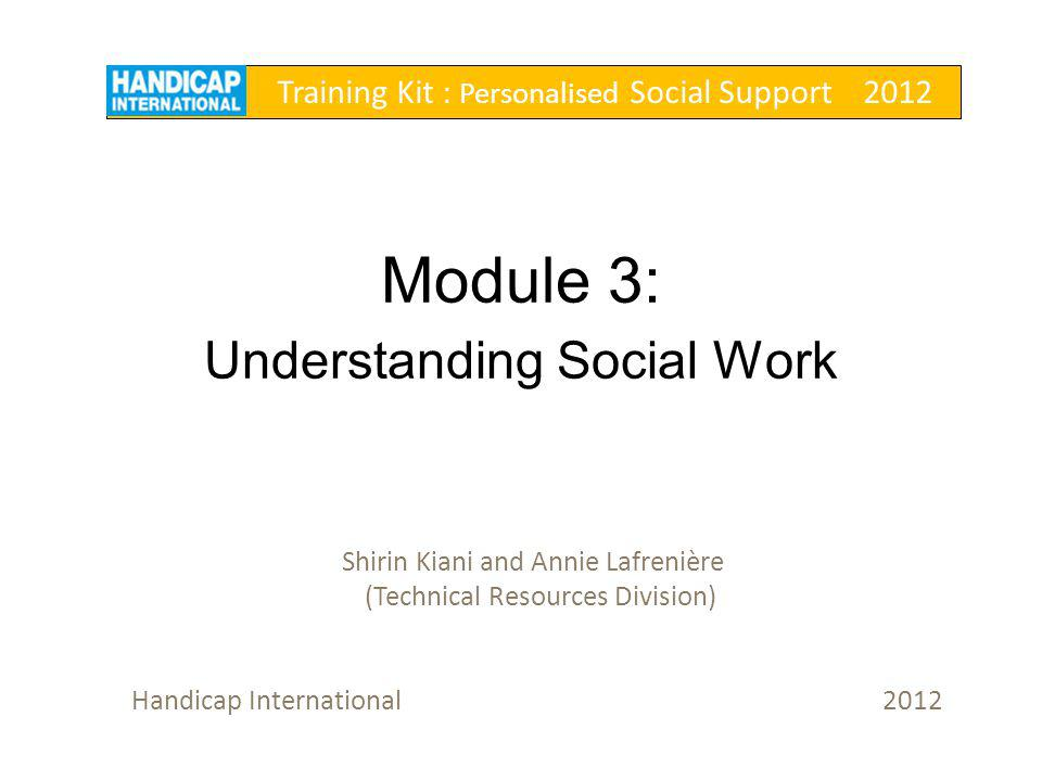 Overview 1.What is social work.