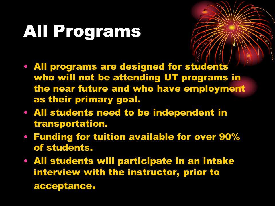 Career Preparation Programs