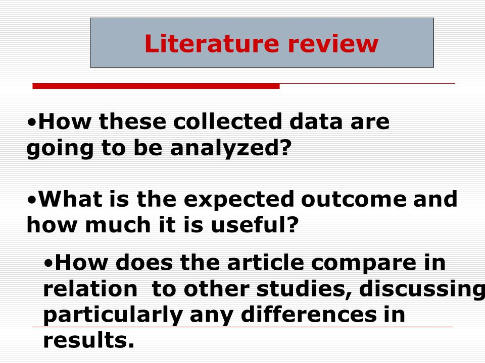 How does the article compare in relation to other studies, discussing particularly any differences in results.
