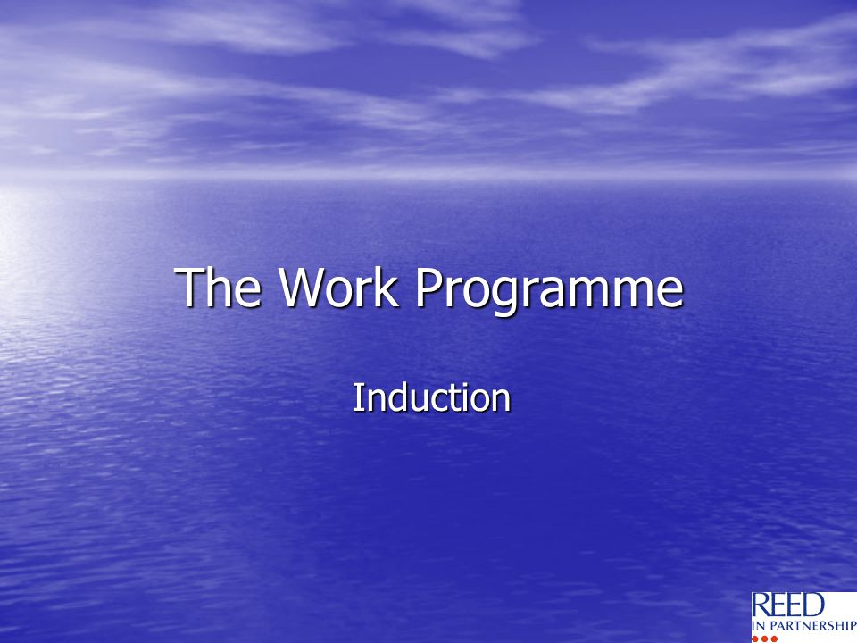 The Work Programme Induction