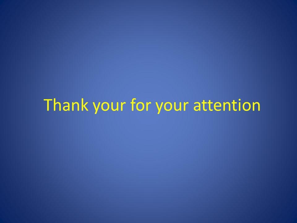 Thank your for your attention
