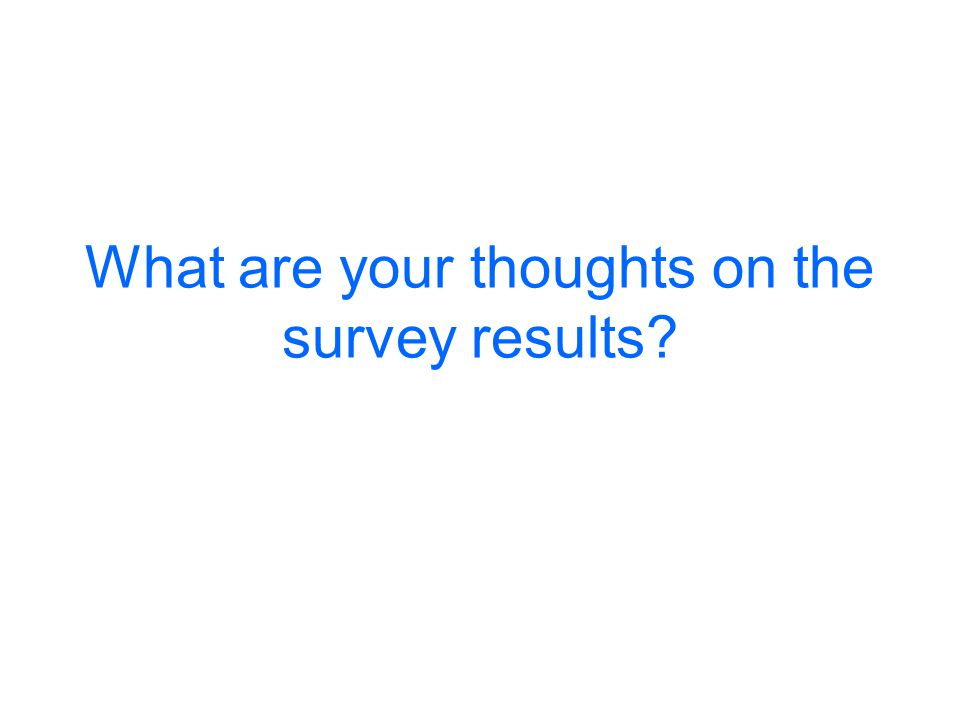 What are your thoughts on the survey results?