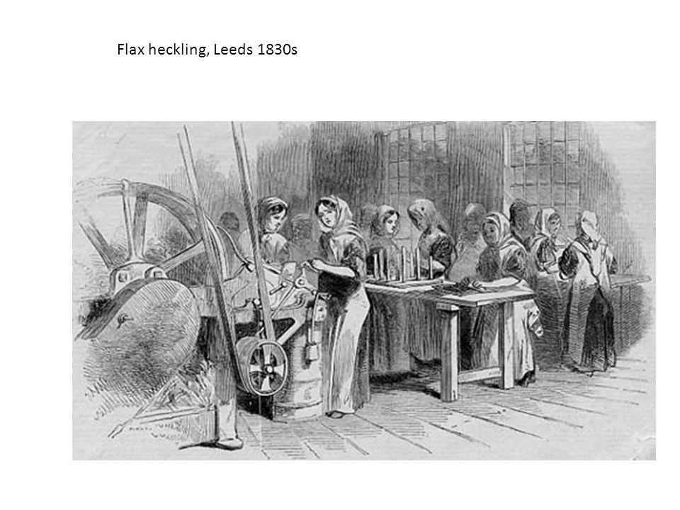 Flax heckling, Leeds 1830s