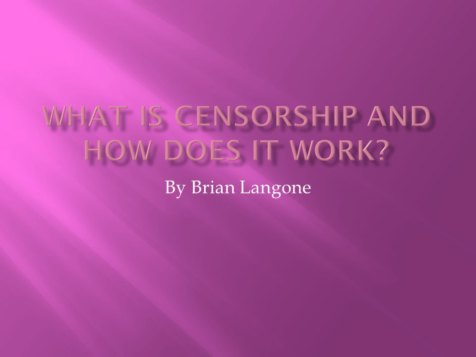 By Brian Langone