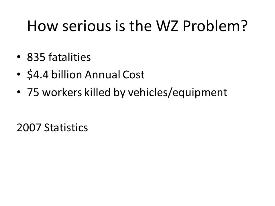 How serious is the WZ Problem.