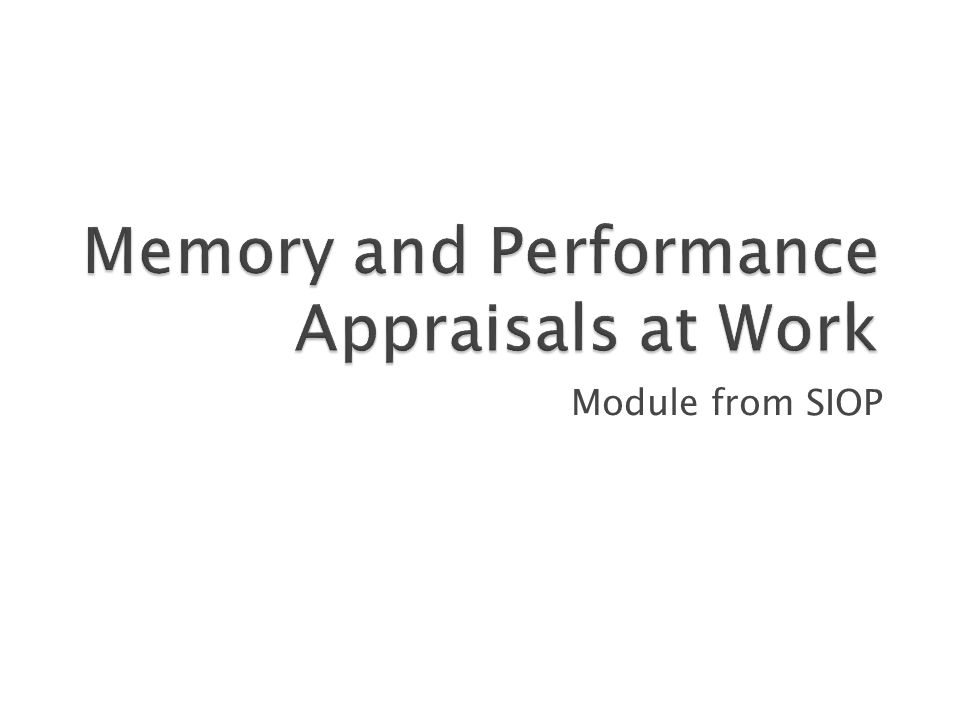 Module from SIOP