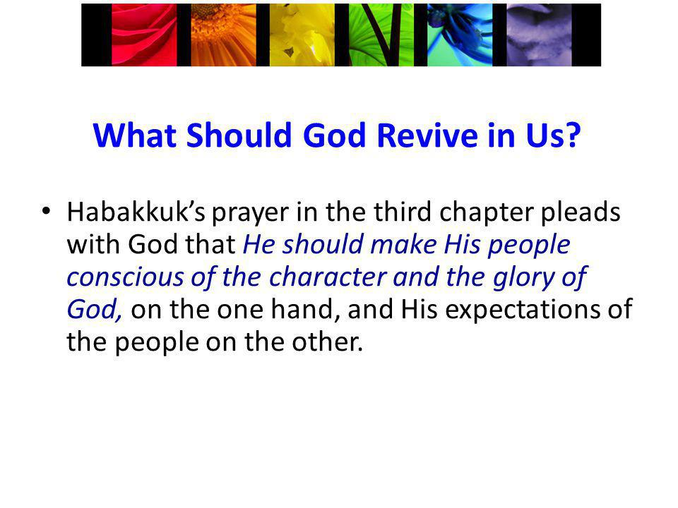 What Should God Revive in Us.