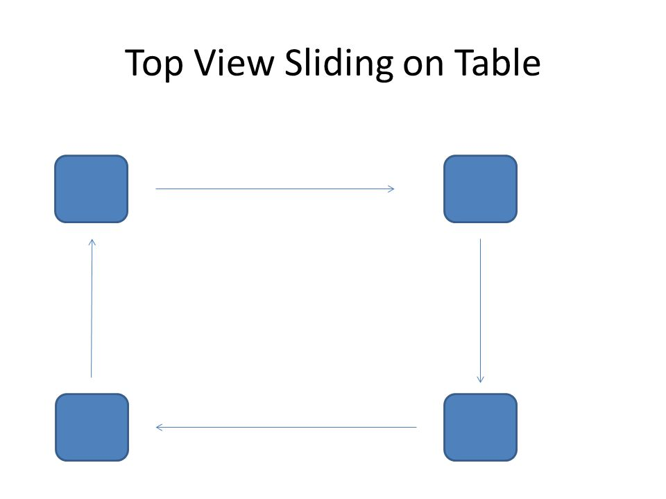 Top View Sliding on Table