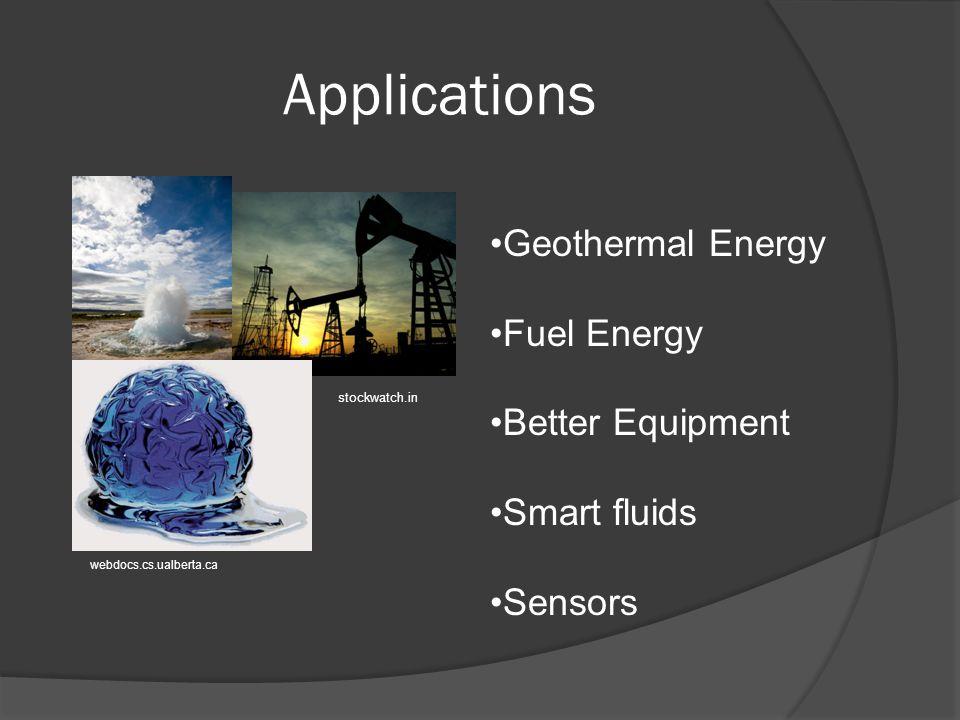 Applications Geothermal Energy Fuel Energy Better Equipment Smart fluids Sensors webdocs.cs.ualberta.ca stockwatch.in
