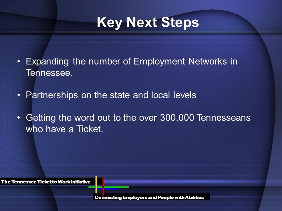 Expanding the number of Employment Networks in Tennessee.