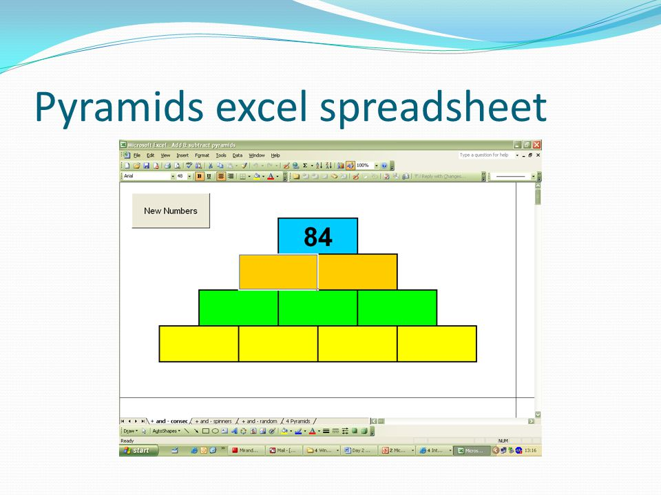 Pyramids excel spreadsheet