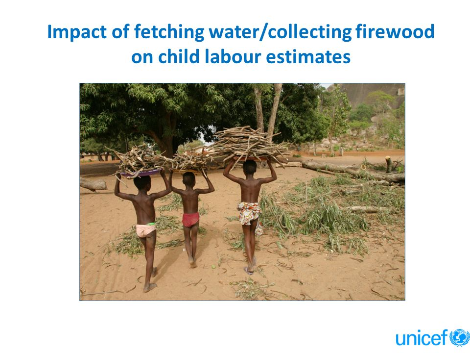 Impact of fetching water/collecting firewood on child labour estimates