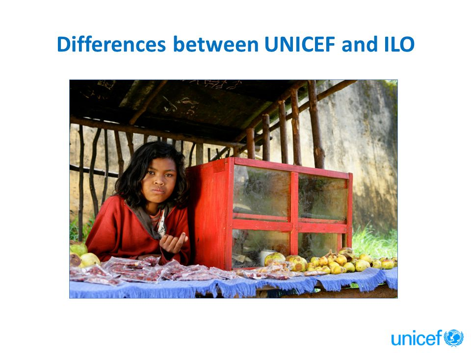 Differences between UNICEF and ILO