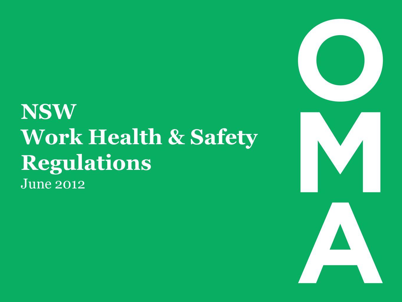 NSW Work Health & Safety Regulations June 2012