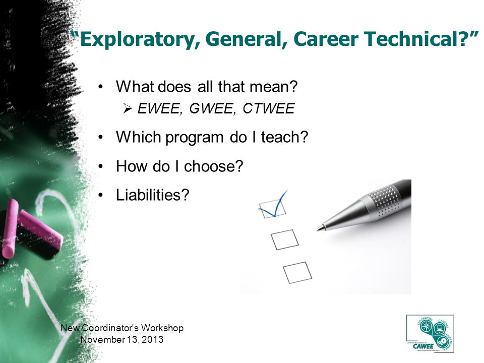Exploratory, General, Career Technical. What does all that mean.