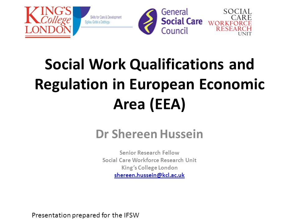 Rational for the research Commissioned by the General Social Care Council (GSCC) and Skills for Care and Development (SfC&D) Increasing mobility of social work (SW) professionals across Europe and Beyond.