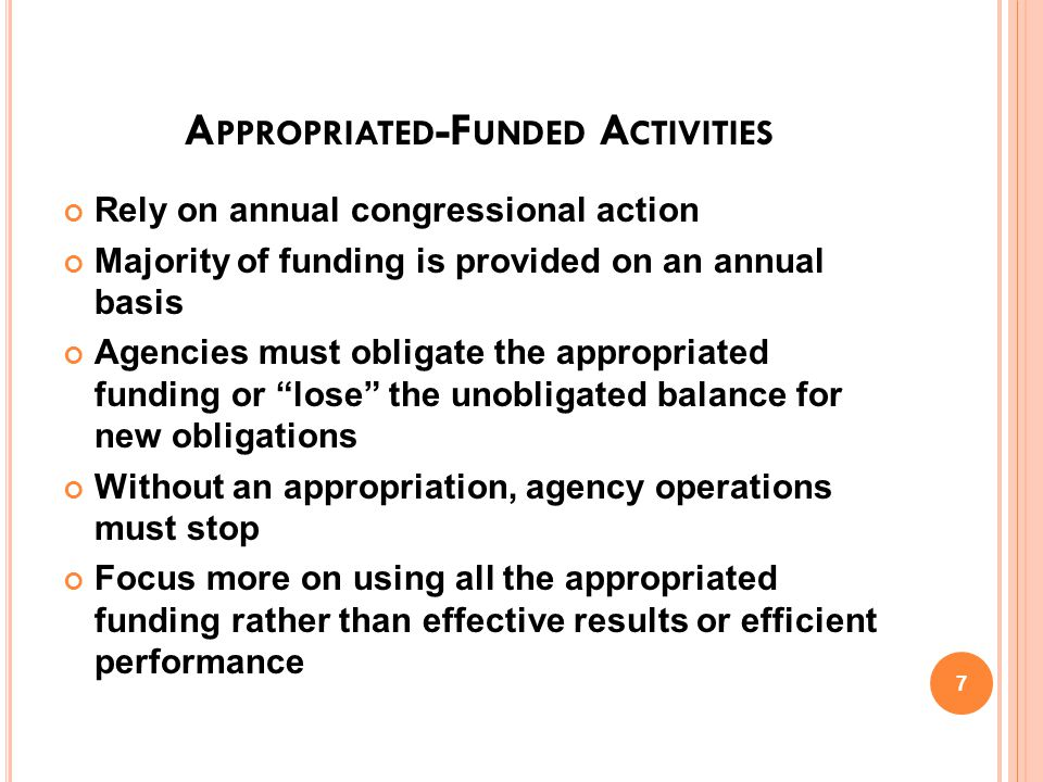 WORKING CAPITAL FUND W HAT IS THE WCF.