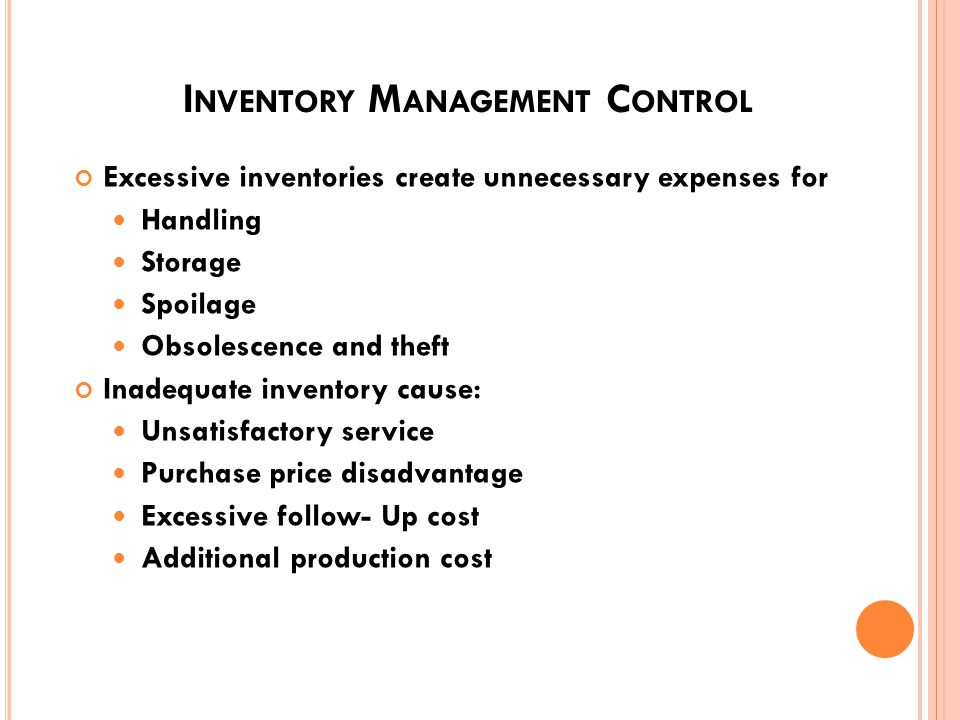 I NVENTORY MANAGEMENT W HAT IS I NVENTORY ? Items that support production and customer service Raw Materials Work In Process Operating Supplies Finish