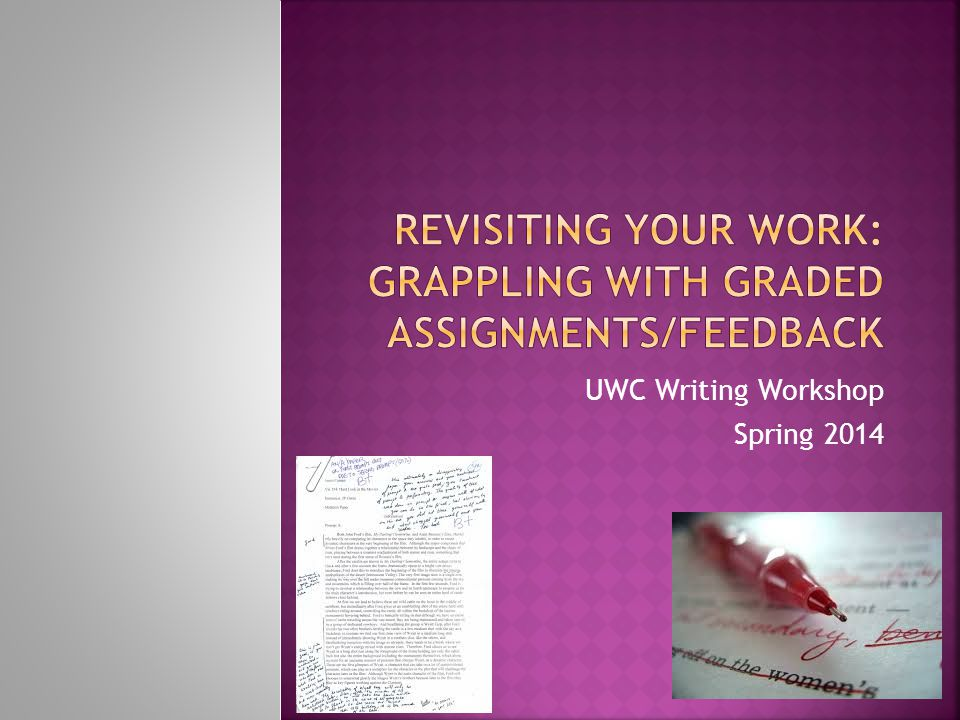 UWC Writing Workshop Spring 2014