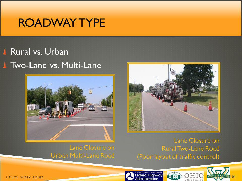 ROADWAY TYPE Rural vs.Urban Two-Lane vs.
